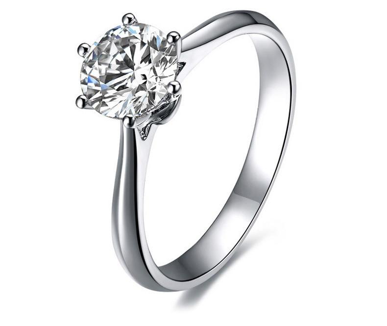 1 carat 925 sterling silver ring simulation diamond ring. Black Bedroom Furniture Sets. Home Design Ideas