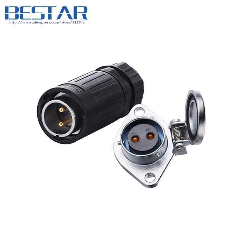 waterproof connector plug socket, Industrial Power Panel Mount Connectors, Dustproof Protective cover audio DMX lighting IP68
