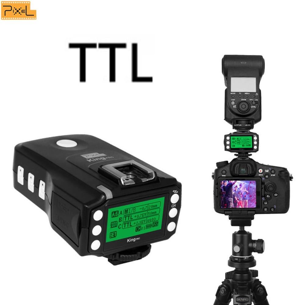 PIXEL King Pro Off-camera bezdrátový blesk Trigger Set Transceiver - Videokamery a fotoaparáty - Fotografie 4
