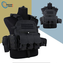 Black Color 600D Nylon Molle Tactical Vest Body armor Hunting plate Carrier Airsoft 094K M4 Pouch Combat Gear Multicam(China)