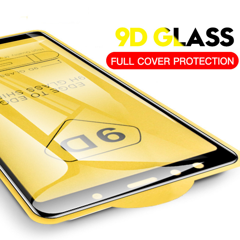 Tempered Glass For Samsung Galaxy S7 Edge S9 S8 J6 A8 A6 Plus 2018 Note 8 9 9D Full Cover Transparent Screen Protector Glass