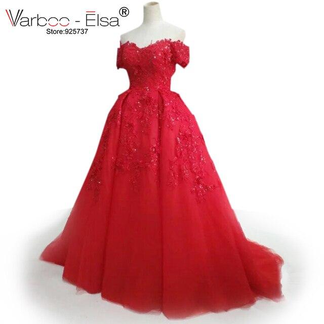 Kleider lang rot