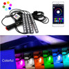 Car Styling RGB LED Strip Light Car Interior Decorative Atmosphere Strip Auto RGB Pathway Floor Light