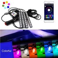 Car Styling RGB LED Strip Light Car Interior Decorative Atmosphere Strip Auto RGB Pathway Floor Light