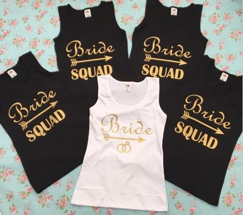 c724740fbb50c personalize wedding Bride squad Bridesmaid tees tank tops singlets Bachelorette  t shirts gift bridal party favors
