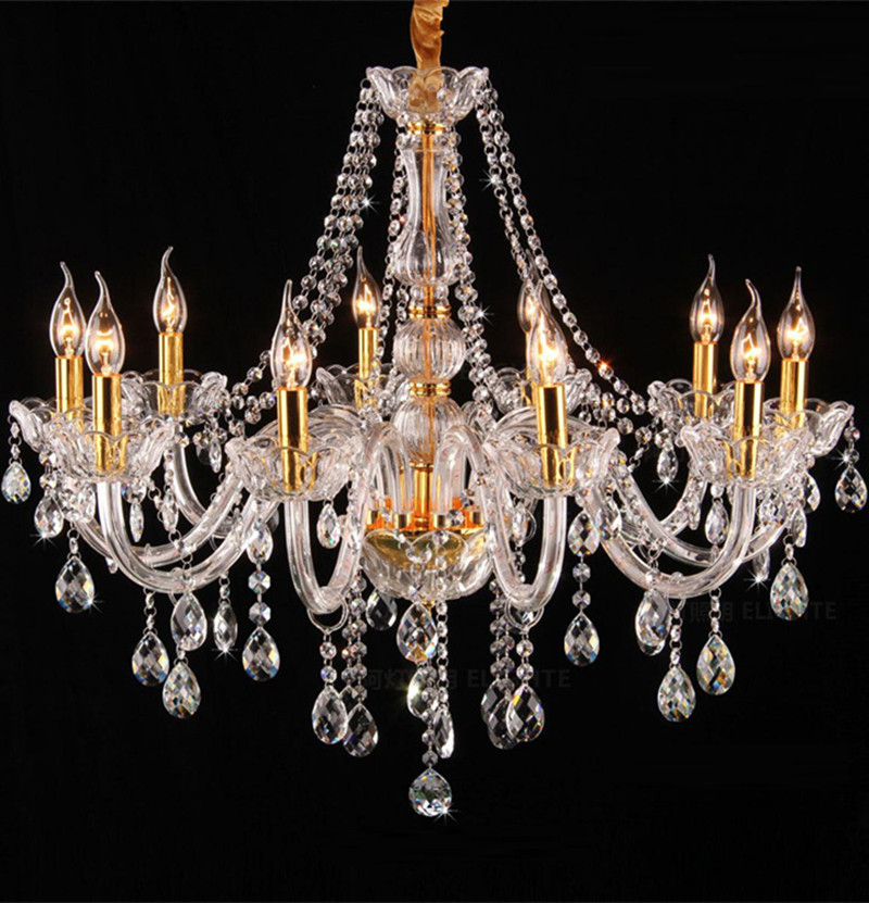 Mediterranean style clear crystal lighting led chandelier for dining room home E14 led candle chandelier kitchen led lightingMediterranean style clear crystal lighting led chandelier for dining room home E14 led candle chandelier kitchen led lighting