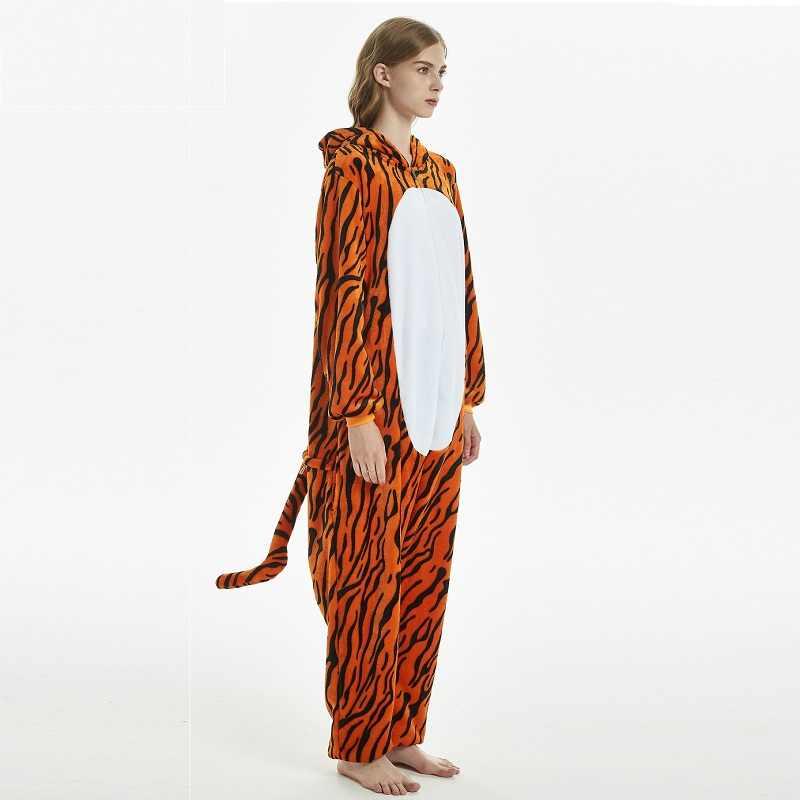 ... Китайский Зодиак тигр кигуруми мужские женские новые зимние комбинезоны  для пижамы для взрослых с капюшоном пижамы ... d8a557f3c38d2