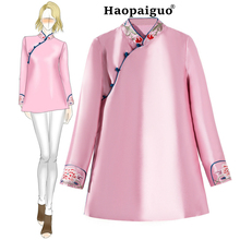 Autumn Winter Velvet Silk Chinese Tea Service Jacket Women Slim Tang Suit Wind Plate Buckle National Shirt Qipao