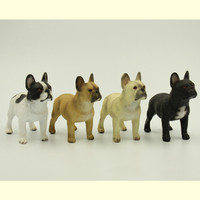 HOT Resin French Bulldog Artificial Model Figure Car Styling Toy Home Room Decoration Bull Dog Collection