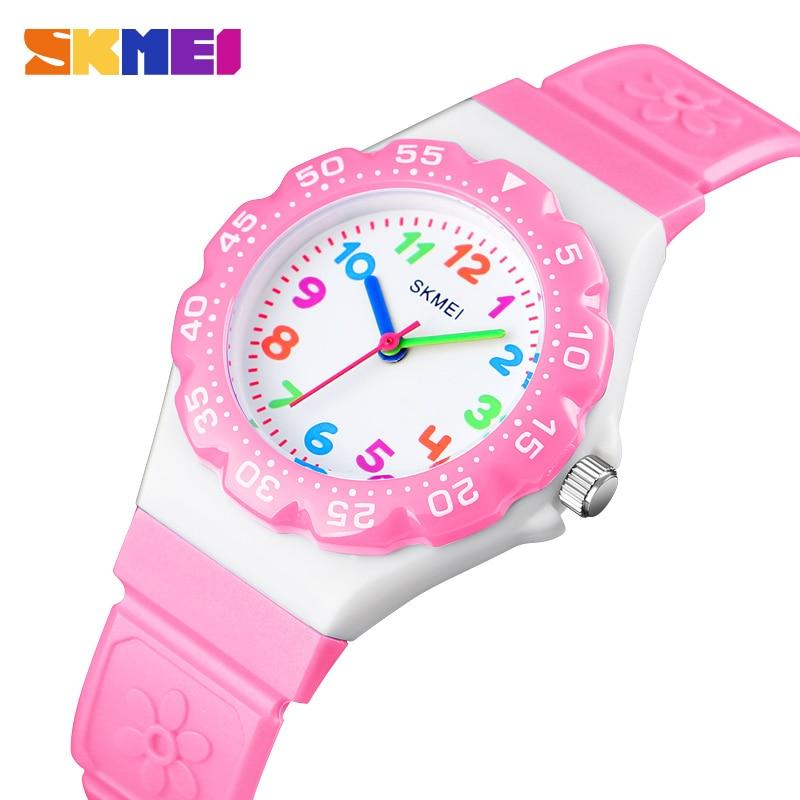 SKMEI Kids Quartz Watch Fashion Leather Strap Sport Watches Children Waterproof Wristwatch For Boys Girls 1483 Reloj Para Niños