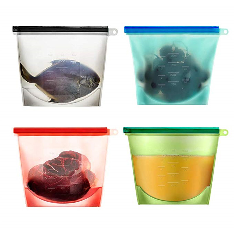 buy reusable silicone vacuum food fresh bags wraps fridge food storage. Black Bedroom Furniture Sets. Home Design Ideas