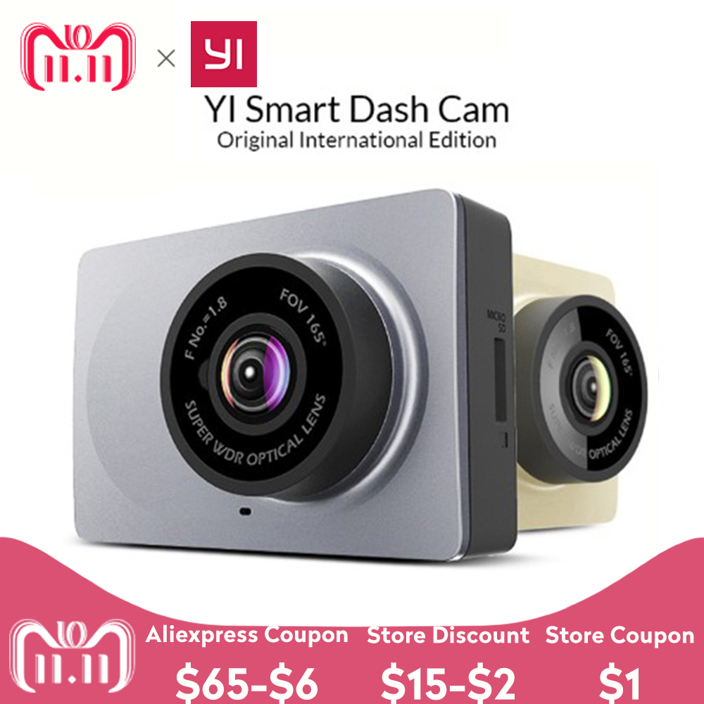 [International Edition] Xiaomi YI Smart Auto DVR 165 Grad 2,7
