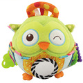 soft stuffed creative animal plush rattles cartoon car hanging strollers Early Educational baby toys owl lion doll gift