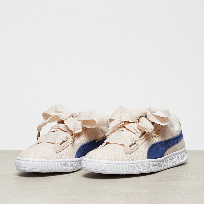 Puma shoes Puma Basket Heart Denim Bow Girl s Shoes Denim Series Khaki  Point Women s Shoes size 36-39 0b734c88f