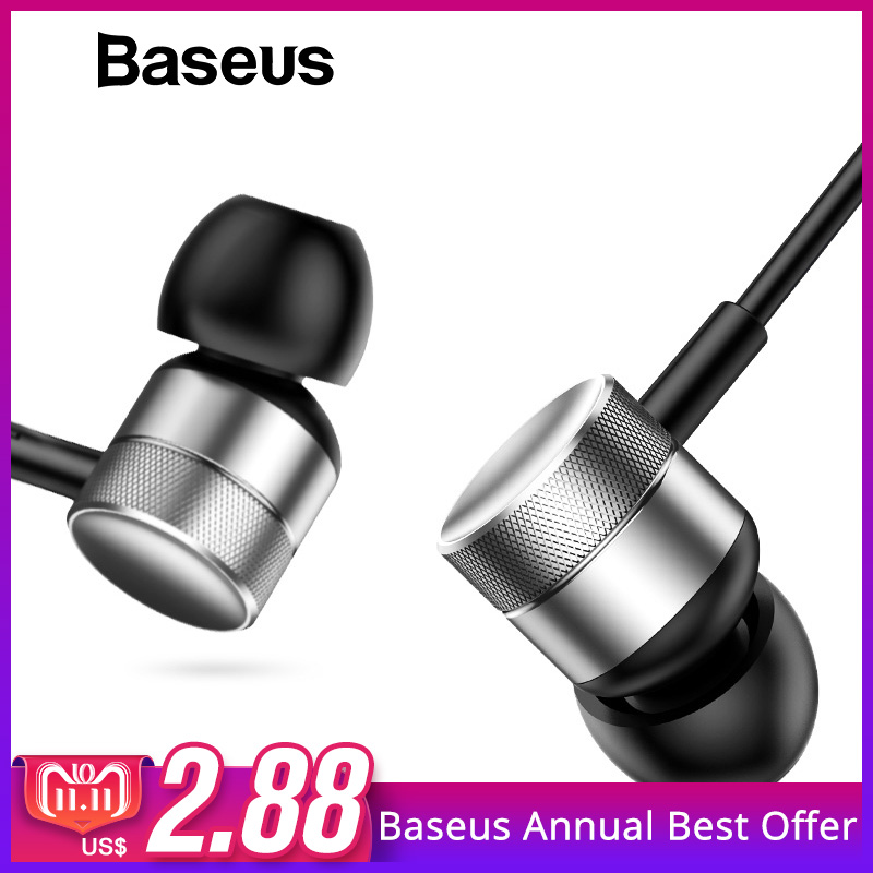 Baseus H04 Bass Sound Earphone In Ear Sport Earphones with mic for xiaomi iPhone Samsung Headset fone de ouvido auriculares MP3-in Phone Earphones & Headphones from Consumer Electronics on Aliexpress.com | Alibaba Group