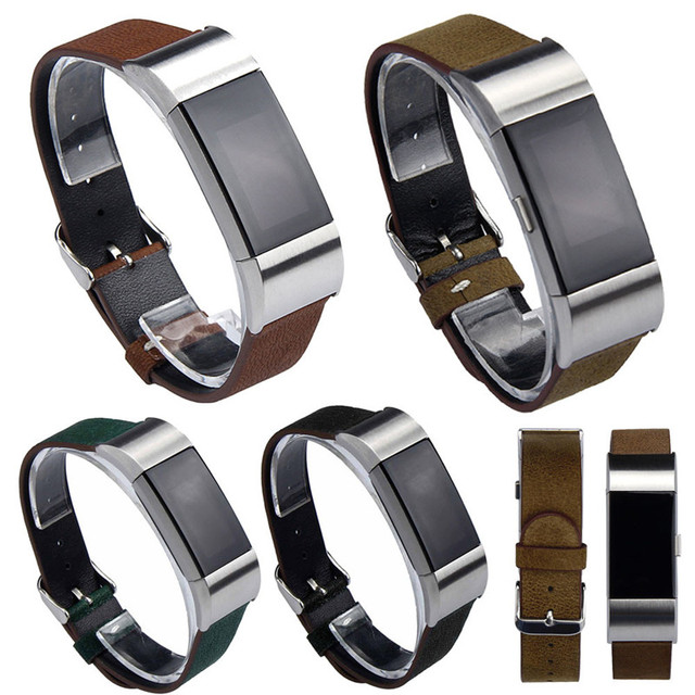 CLAUDIA New Arrival Luxury Leather Watch Band Strap + Lugs Adapters For Fitbit Charge 2 Fabulous