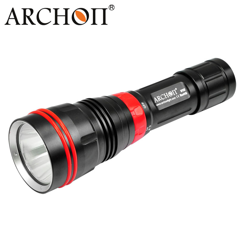 Original ARCHON DY01 1000 lumens 6500k CREE XP-L LED Diving Flashlight Torch Light with 100M with 26650 Battery and Charger цены
