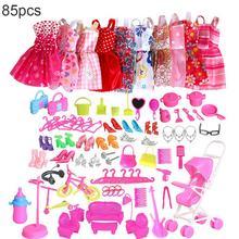 85 шт. модные Костюмы 10 шт. одежды и 75 шт. Barbie аксессуары игрушки для детей и девочек рождественские подарки