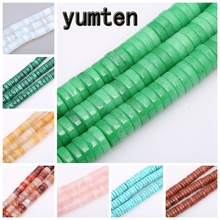 Yumten Round Green Jasper Beads 4mm*15mm Wholesale Natural Tiger Eye Opal Malachite Jewelry Making Handmade DIY Bracelets