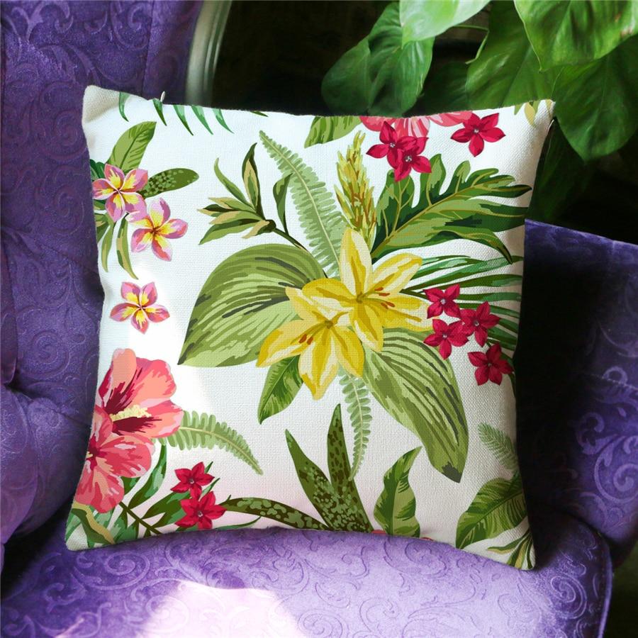 Ev Dekoralı Naxışlı Divan Atılan yastıq örtüyü Floral Capa - Ev tekstil - Fotoqrafiya 6