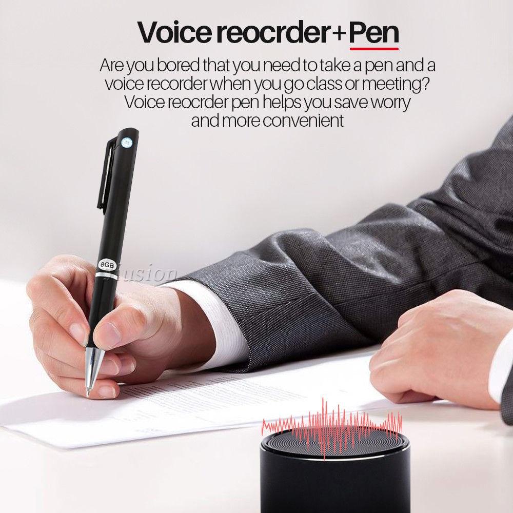 8 GB mémoire enregistreur vocal stylo avec fonction MP3 2 en 1 numérique Portable stéréo enregistrement Audio gizli Dictaphone registraire