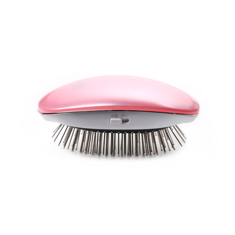 PRITECH Mini Electric Hair Comb Hair Straightener Negative Ionic Comb Takeout Anti-static Massage Portable Straight Hair Brush