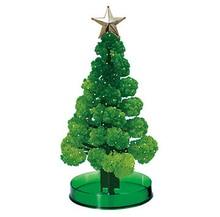 Купить с кэшбэком 2019 11x7cm Green DIY Visual Magic Growing Paper Crystals Tree Magically Grow Funny Christmas Trees Kids Baby Toys For Children