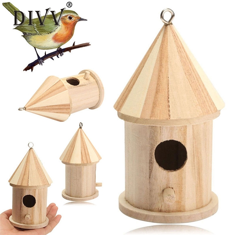 Divv Home Decoration Wooden Bird House A Nest With Love For Bird 30 Gift 2017