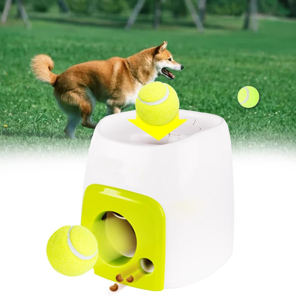 1 pc automatique interactif balle Tennis lanceur chien Pet jouets automatique lancer Mmachine Pet balle jeter dispositif émission avec balle