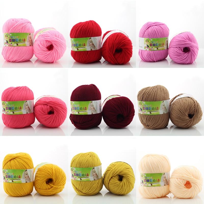 1 rouleau / 50g à tricoter fil de laine à tricoter à la main fil - Arts, artisanat et couture