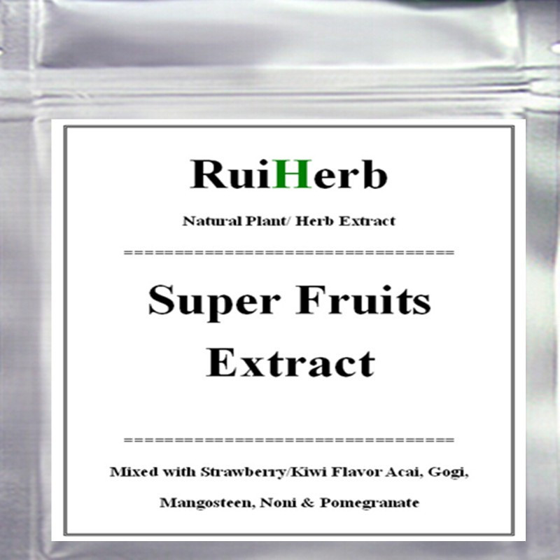 250gram Super Fruits Extract Powder Mixed with Strawberry/Kiwi Flavor Acai, Gogi, Mangosteen, Noni & Pomegranate 1000g 100% natural fruit powder strawberry juice powder strawberry extract beverage powder skin protection with best price