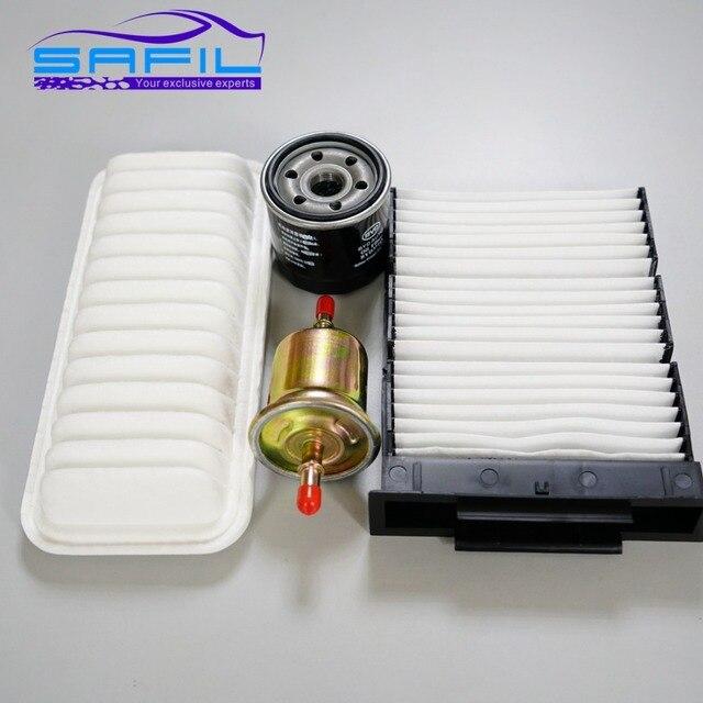 Para BYD F0 aire + filtro de cabina aire acondicionado + gasolina + filtro  de aceite 8c3e4557d2
