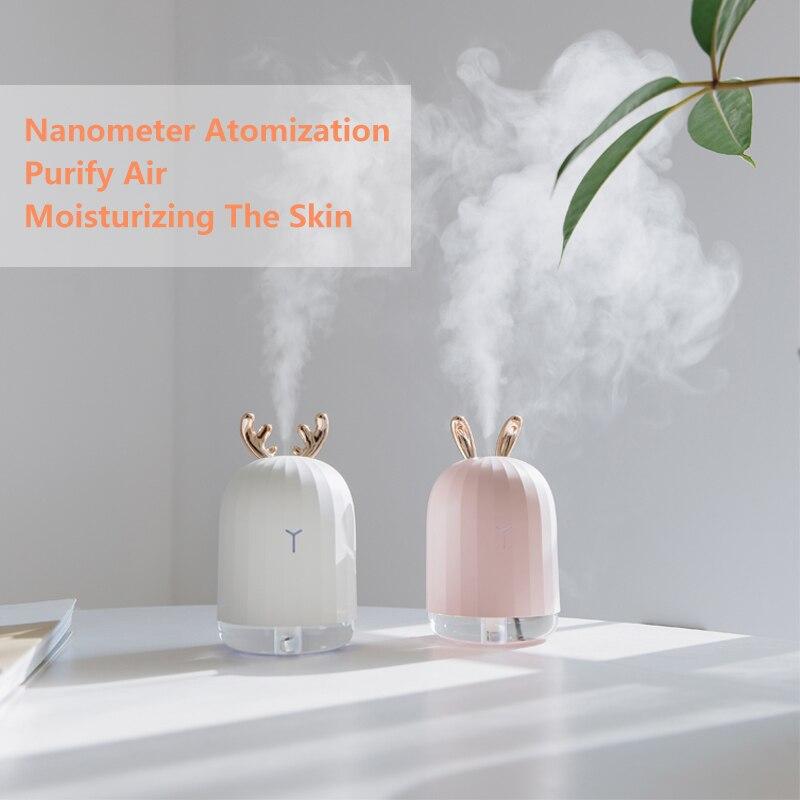 Hohe Qualität 220 ml Ultraschall-luftbefeuchter Aroma Ätherisches Öl Diffusor für Home Auto USB Fogger Mist Maker mit LED nacht Lampe