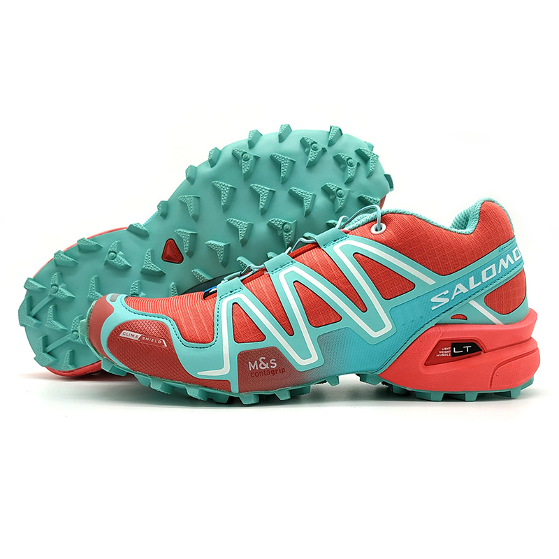 2018 rouge vert Salomon Speed Cross 3 CS Anti-Slip Sneaker Confortable Jogging Chaussures Femmes Chaussures de Course Rose eur 36-41