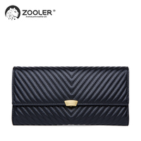 2019 HOT genuine leather wallet ZOOLER Cow Leather purse Wallet woman leather clutch bag lady purses high quality wallets#CW201