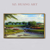 golf course Modern Beautiful Golf Course On Canvas Landscape oil Painting Wall Art Artwork Photo To Home Office Photo Decor