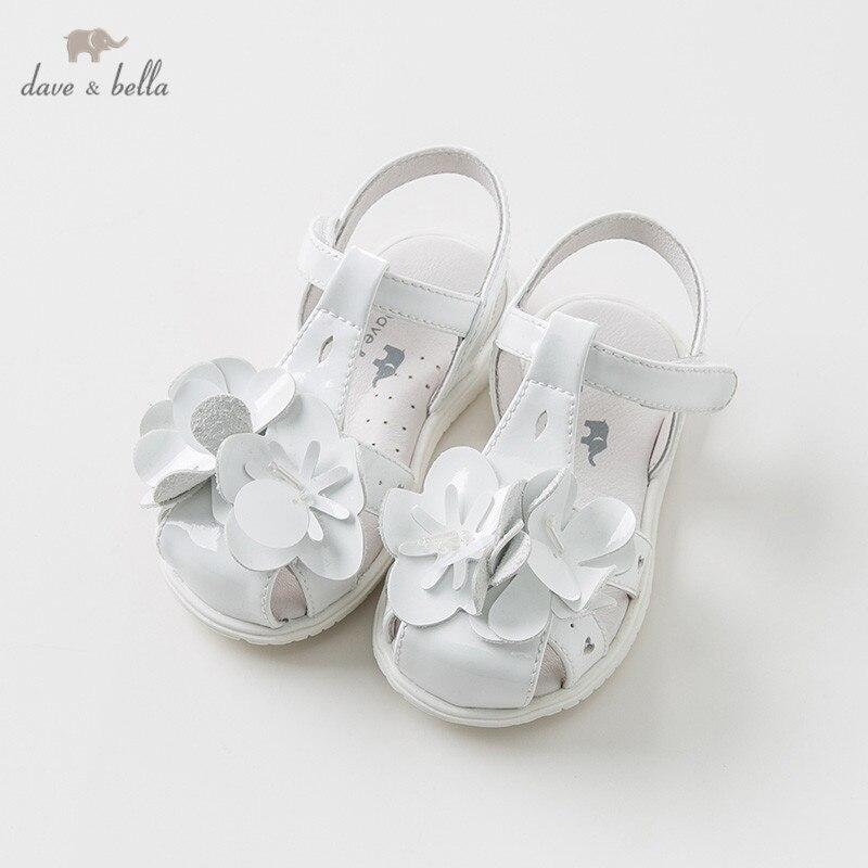 DB10257 Dave Bella été bébé fille sandales nouveau-né prewalkers bébé chaussures fille sandales avec de la farine