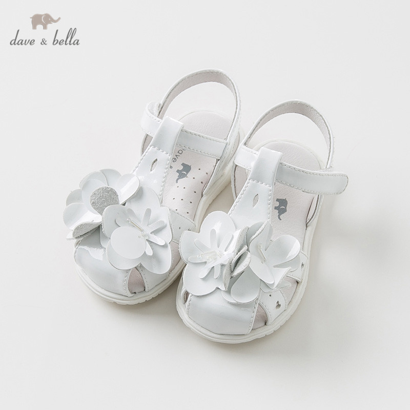 DB10257 Dave Bella Summer Baby Girl Sandals New Born Prewalkers Infant Shoes Girl Sandals With Flour