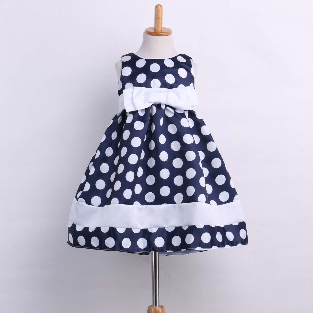 Infant Girl Dress Kids Toddler Baby Cute Polka Dot Bow Princess Party Wedding Formal Tutu Mini Dress