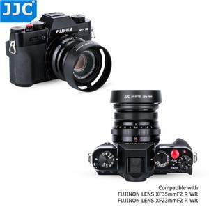 Image 2 - JJC Bayonet 라운드 카메라 렌즈 후드 43mm 스레드 크기는 FUJINON 렌즈 XF35mm/25mm F2 R WR 용 Fujifilm LH XF35 2 대체합니다.