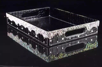 Jewelry storage tray Crystal trays decorate Cosmetics with crystals Decorative trays Home decor tray