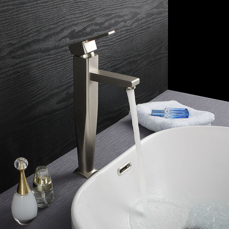 Brushed Nickel Basin Faucet Hot and Cold Water Waterfall Bathroom Brass Tap Tall Wash Faucet Mixer pastoralism and agriculture pennar basin india