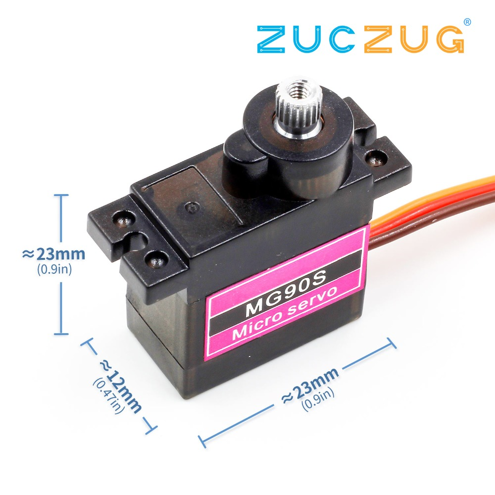 1pcs MG90S Metal gear Digital 9g Servo For Rc Helicopter plane boat car MG90 9G IN STOCK(China)
