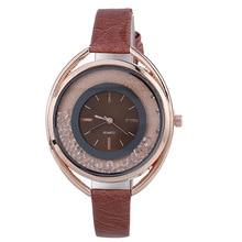 Fashion Luxury Women's Quartz Wristwatch Leather Women's Bracelet Watches Lover's Watch Reloj Mujer Quicksand Big Dial Dress