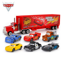 7Pcs/set Disney Pixar Cars 3 Lightning McQueen Jackson Storm Cruz Mater Mack Uncle Truck Diecast Car Model Toy Free Delivery(China)