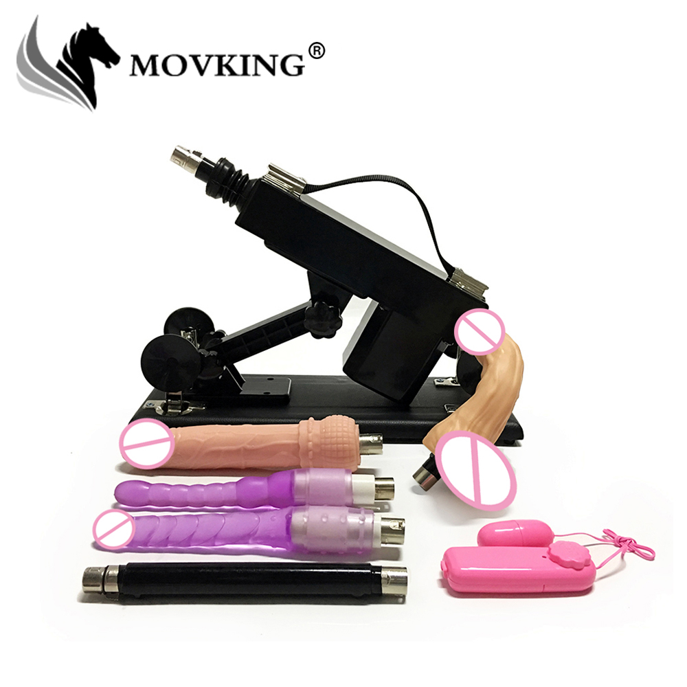 MOVKING Automatique Sex Machine pour les Femmes de Poussée Machines Gun pour le Sexe Masturbation Amour Rétractable Machine Vibrations Sex Toys