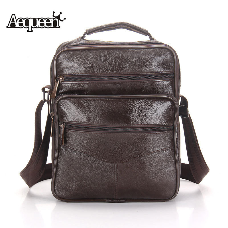 Genuine Leather Shoulder Bag Men Casual Business Messenger Mens Crossbody Bags 2017 Fashion Travel Cow leather Handbag Black genuine leather men shoulder bags brown black business messenger bag vintage multifunction casual travel crossbody pack rucksack
