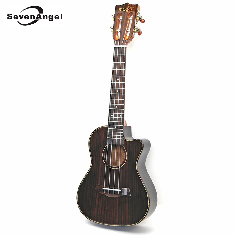 Professional high-end Ukulele Gloss finish Rosewood 23 inch Electric Guitar 4 Strings Missing Angle Ukelele with Pickup EQ