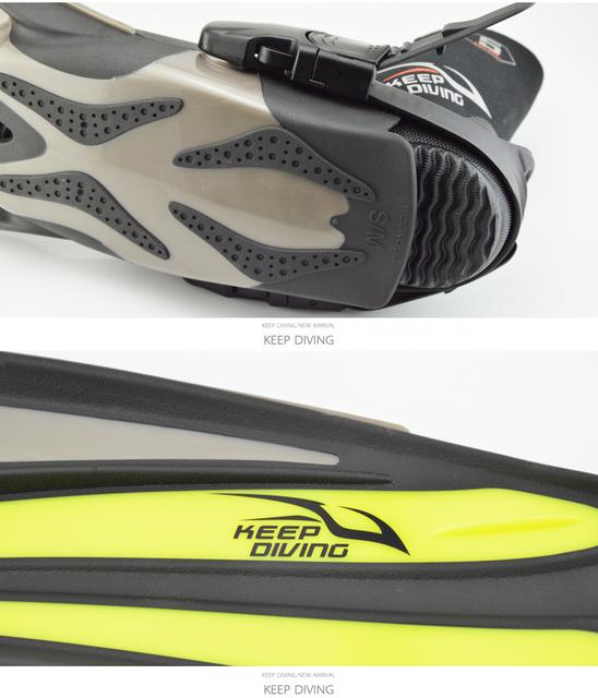 Freediving Fins Open Heel Scuba Adjustable Long Snorkeling Flippers