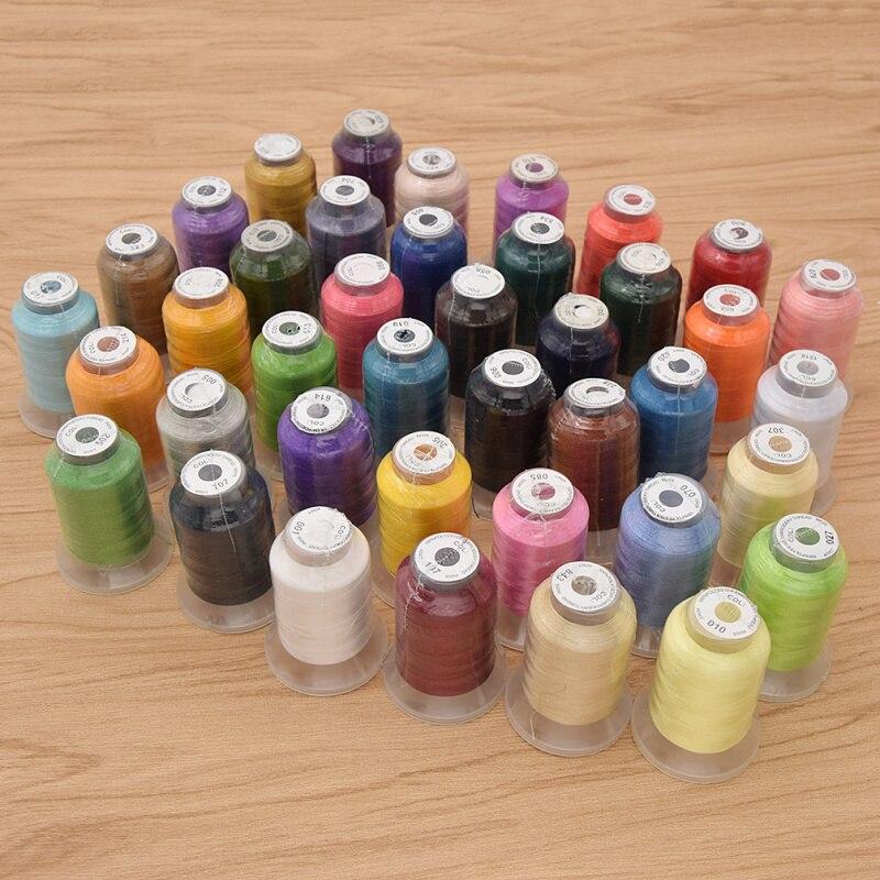 Fil à broder en Polyester de haute qualité de 40 couleurs 120D/2 pour accessoires de couture de vêtement